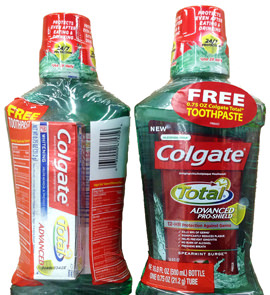 Colgate Mouthwash Promotional Shrink Sleeve
